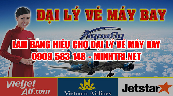 Bảng hiệu đại lý vé máy bay giá rẻ
