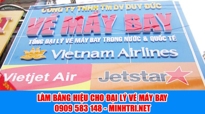 Cty Minh Trí nhận làm bảng hiệu đại lý vé máy bay giá rẻ tại TPHCM