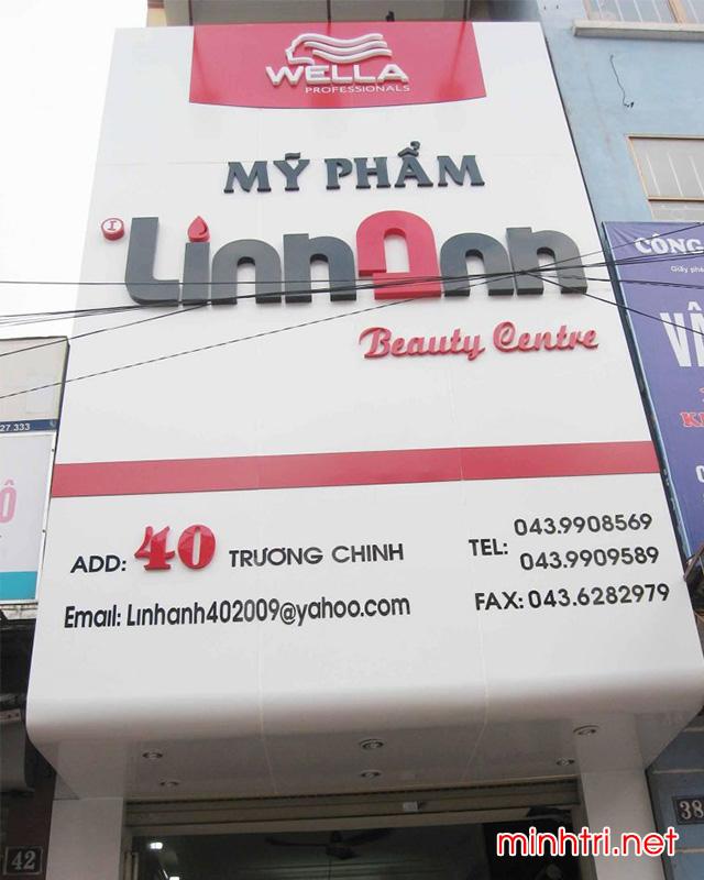 Mẫu bảng hiệu quảng cáo cho Spa, thẩm mỹ viện - Minh Trí