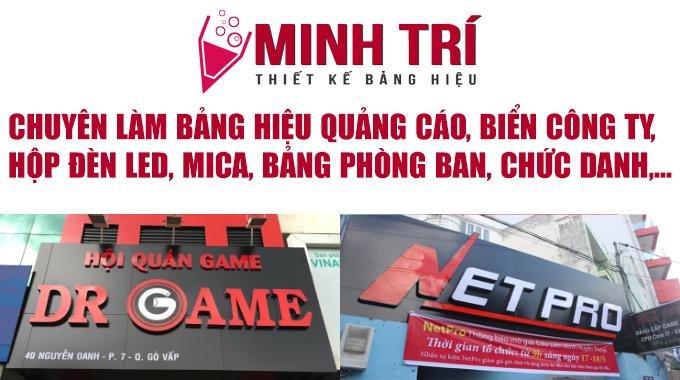 Dịch vụ làm bảng hiệu ở TPHCM