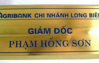 Làm biển chức danh, biển phòng ban các loại TPHCM - Minh Trí
